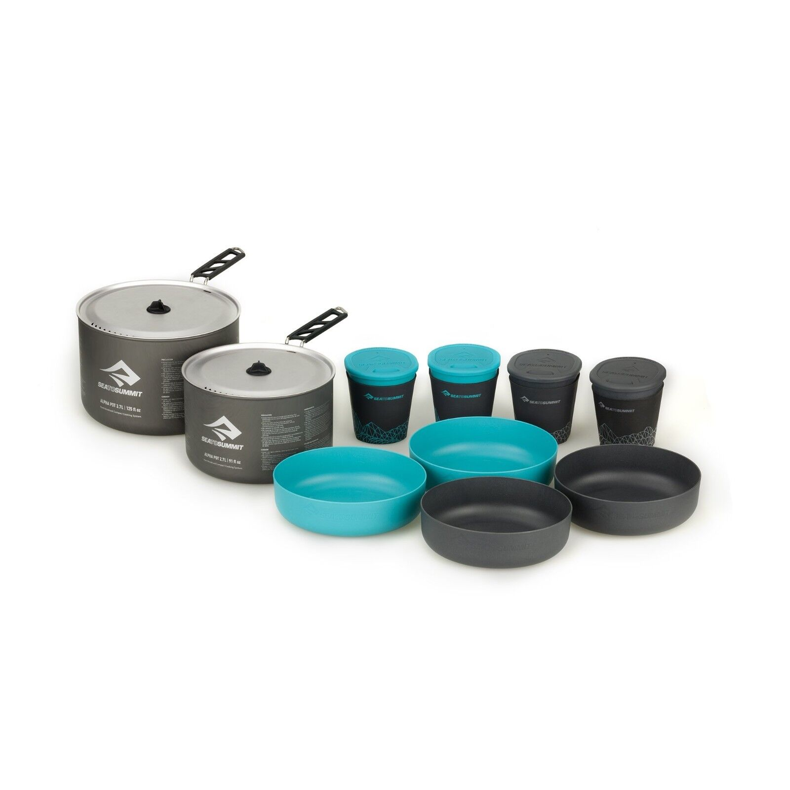 Sea to 4.2 Summit Alpha Pot Set 4.2 to - Camp Kitchen Cookware and Tableware for 4 peop 8c7f6b