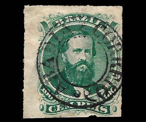 Obliteration-Correio-de-ABADIA-in-stamp-Dom-Predro-II-100-Reis
