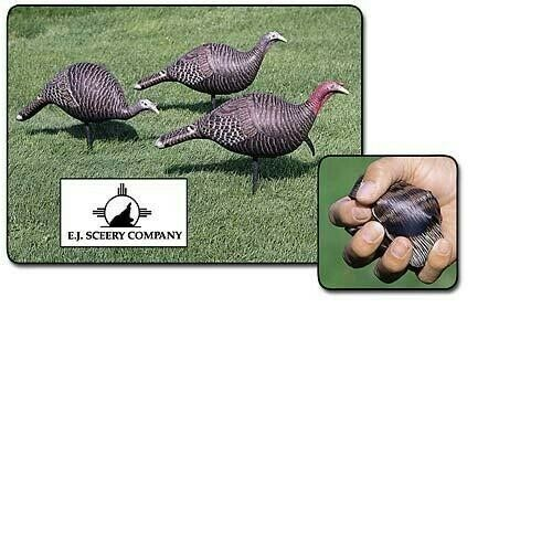 FREE SHIPPING Sceery Turkey Inflatable Decoys Flock 3 Decoys - New In Box