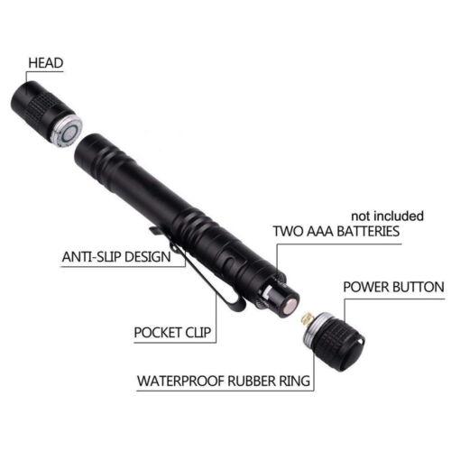 395nm Pen Type UV Flashlight Ultraviolet Blacklight UV Inks Glue Curing Light