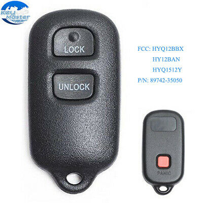 2 New Keyless Entry 4 Button Remotes Car Key Fobs for Select Toyota HYQ12BBX