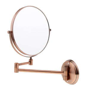Details About Vintage 3x Magnifying Wall Mount Swivel Mirror Round Makeup Sided Vanity