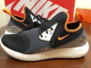 buy popular 611fe 93faa Image is loading New-Men-039-s-Nike-Lunarcharge-BN-Black-