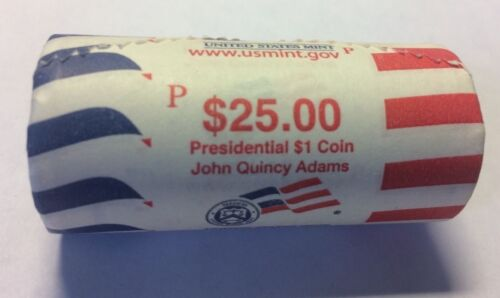 "2008 P John Quincy Adams Presidential /""Unopened/"" Mint Dollar 25 Coin ROLL"