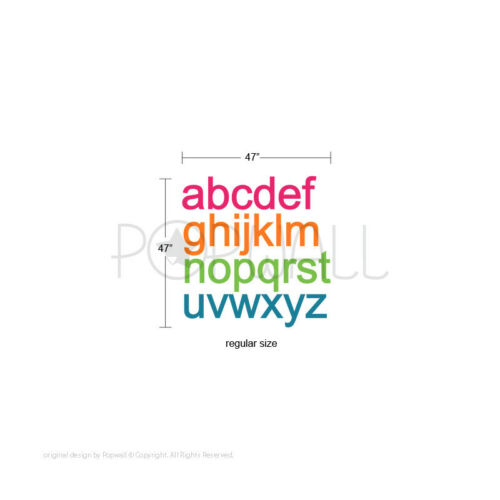 Alphabet ABC Wall pattern Wall Decal Wall Sticker for Nursery Playroom home