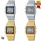 Casio A500WA-1/7 A500WGA-1/7/9 Digital watch Silver/Gold Tone Stainless Steel