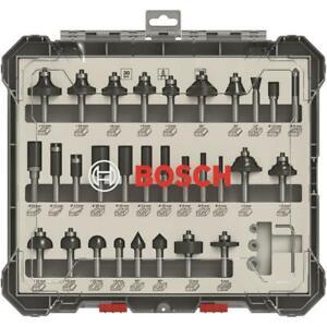 Bosch-30tlg-Fraeser-Set-Fraeser-Nutfraeser-Abrundfraeser-Buendigfraeser-m-8mm-Schaft