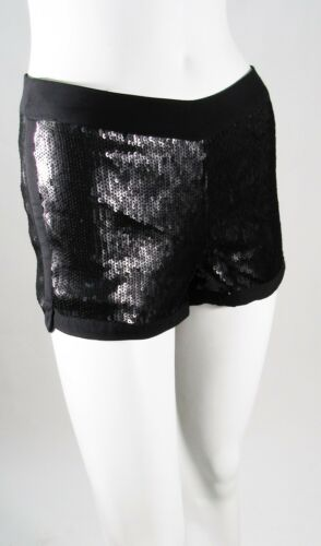 BDB David Bitton Black Sequin Shorts Sz 2 12 NWT $89