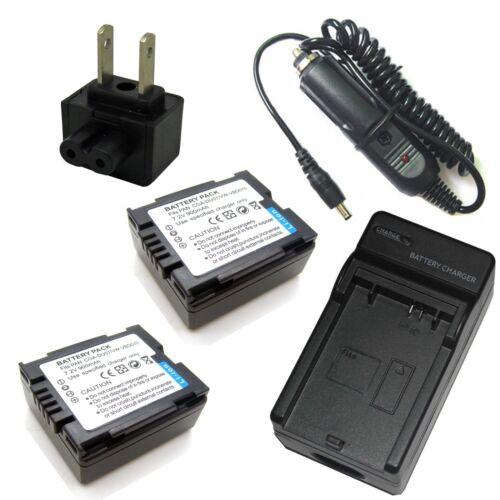 Cargador Batería 2x 7.2v para CGA-DU07 Panasonic NV-GS33 NV-GS35 NV-GS37 NV-GS38