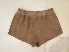 Kate Moss For Topshop Light Brown Suede Shorts Size UK 8 / S