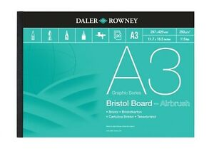 Daler-Rowney-Bristol-Board-Pads-A3-250gsm-Great-With-Air-Brush-Use