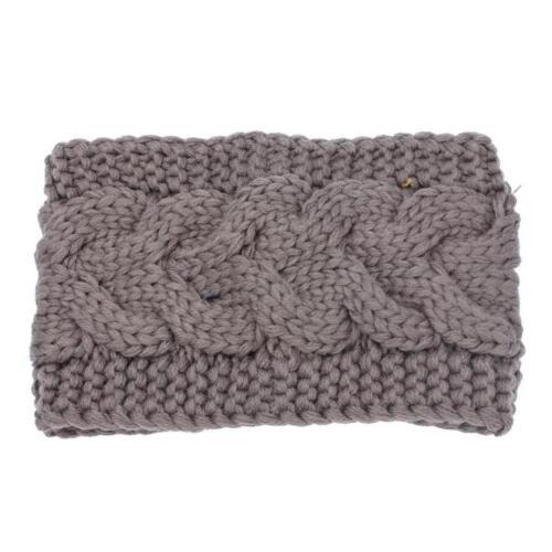 NEW Women High-quality Ear Warmer Headwrap Headband Crochet Knit Flower Hairband