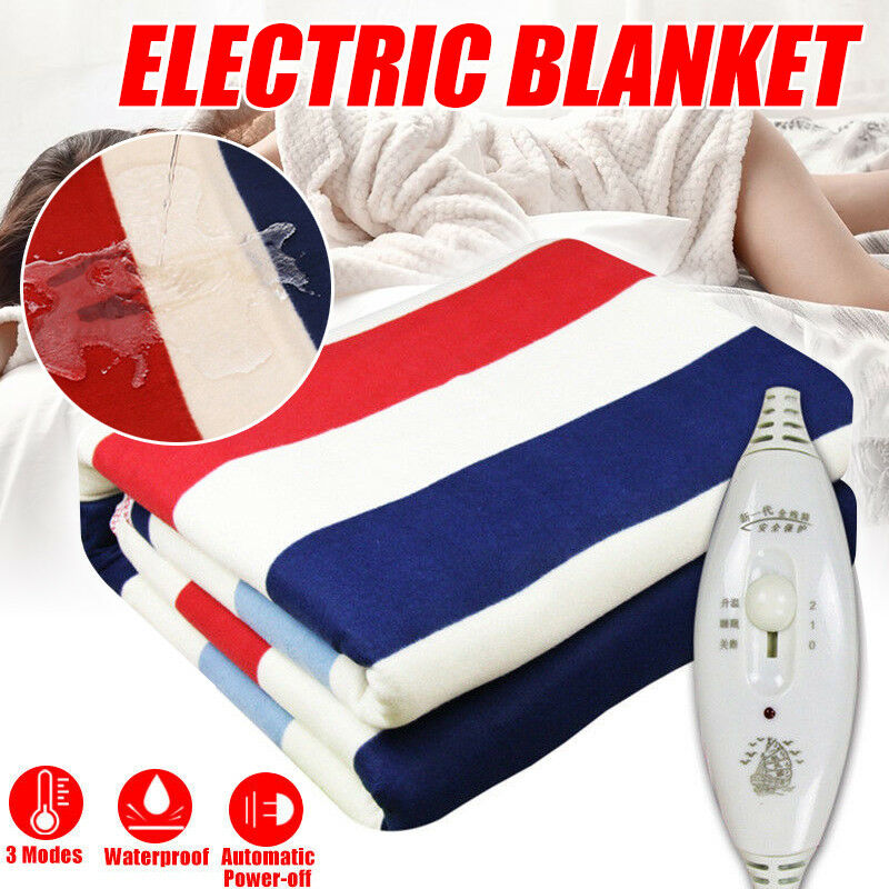 Queen Size Electric Heated Flannel Blanket Warm Winter Cover