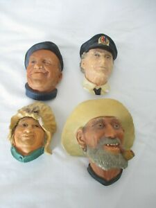 Bosson-039-s-Congleton-England-Chalk-Head-Figures-Group-of-4