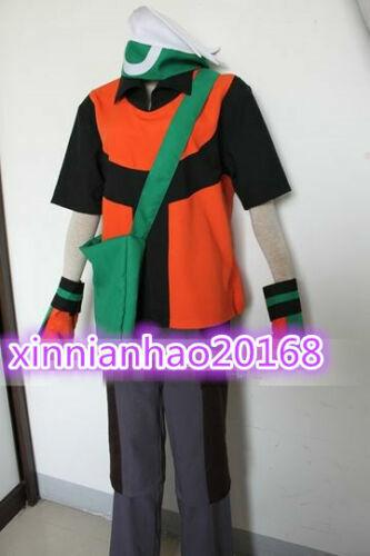 Hot Pokemon Emerald Yuki Brendan Cosplay Costume