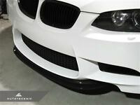 Real Vacuumed Carbon Fiber Crt Inspired Front Lip For 08-13 Bmw M3 E90 E92 E93