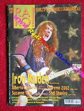 rivista RARO 132/2002 Iron Maiden Alberto camerini Suzanne Vega S. Shapiro No cd