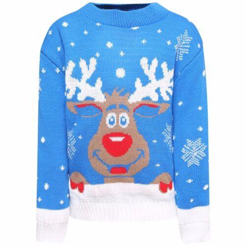 Bambini Ragazzi Ragazze Natale Natale Novità Rudolph Bambi ponticelli a Maglia 3-14 anni