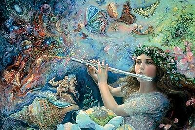 JOSEPHINE WALL ~ ENCHANTED FLUTE 24x36 FANTASY ART POSTER Fairy NEW/ROLLED!