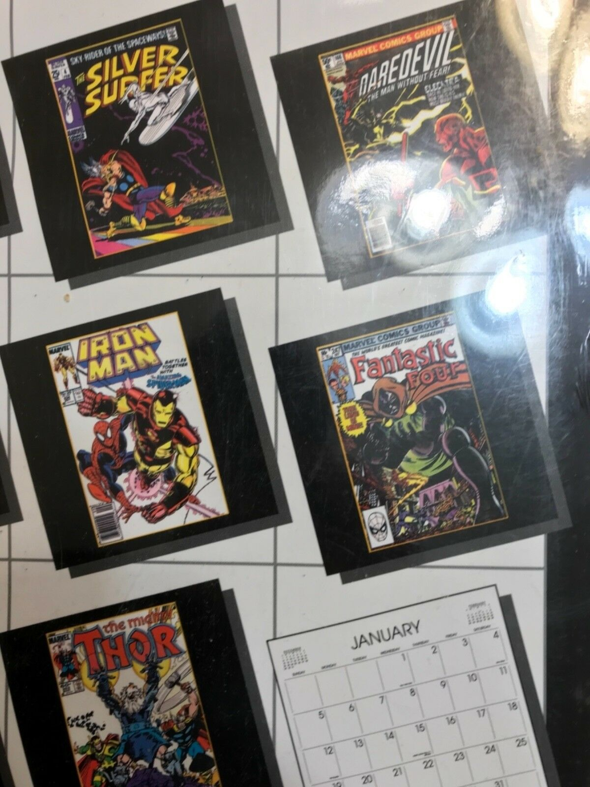 MARVEL SUPER HEROES 1992 CALENDAR - VINTAGE With many great great great cover posters  cde1f6
