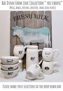 Rae-Dunn-Farm-Line-Mug-Bowl-Pitcher-Cow-Pig-Chicken-Barn-034-YOU-CHOOSE-034-NEW-039-19