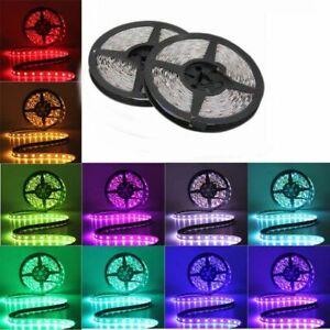 Impermeable-Luz-de-tira-del-LED-2835-SMD-12V-DC-Lampara-cinta-5m-60leds-m