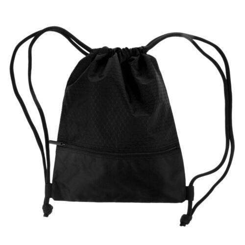 Wasserdicht Turnbeutel Kordelzug Tasche Rucksack für Tauchen Laufen Schwarz