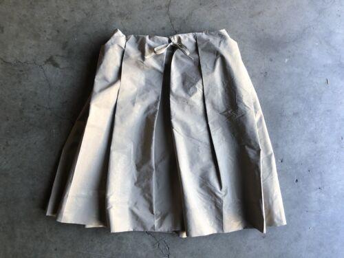 Marni Metallic Pleated Skirt sz 40 Gold Italy