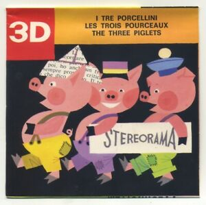 Les-3-Petits-Cochon-3-Little-Pigs-View-Master-Stereorama-2-Reel-Packet-Puppets