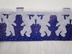Weihnachtsdeko Watte.Details Zu Weihnachtsdeko Watte Engel Bordüre Weiß Girlande Deko Fenster Tisch Weihnachten