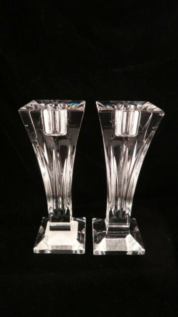 """Waterford Crystal Clarion 6"""" Candlesticks Set of 2 Made in Ireland"""
