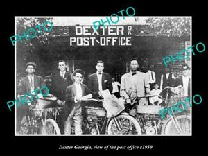 OLD-LARGE-HISTORIC-PHOTO-OF-DEXTER-GEORGIA-VIEW-OF-THE-POST-OFFICE-c1930