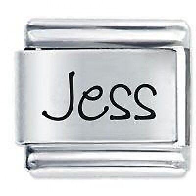 JESS Name - Daisy Charm by JSC Fits Classic Size Italian Charms Bracelet