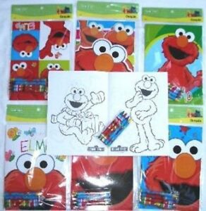 Details About 12 Sesame Street Elmo Coloring Books 48 Crayons Party Favor School Supply Lot