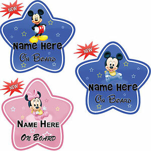 Personalize-Customize-Mickey-Minnie-Baby-On-Board-Car-Sign