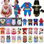 miniature 1 - Bébé Garçon Super-héros Superman Costume Fille Enfants Combinaison Overall Romper
