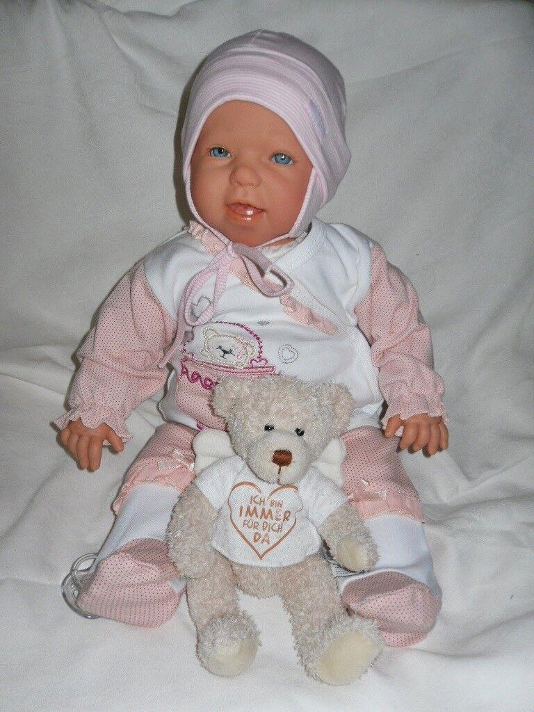Traumdolls Antonio Juan Babypuppe Josy mit Schnuller Spielpuppe Baby Baby Baby Puppen 1f6091
