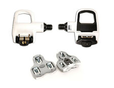 New LOOK Keo Classic 2 Black White Road Bike Pedals w Grey Cleats PAIR 139g each
