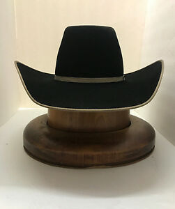 0ee26da6819 RESISTOL 4X Finals B Hat 100% Wool - BLACK - With Free Hat Brush+No ...