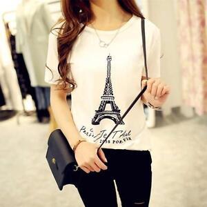 Women-Summer-Eiffel-Tower-Blouse-Slim-T-Shirt-Stylish-Tank-Top-Basic-Tee-Tops