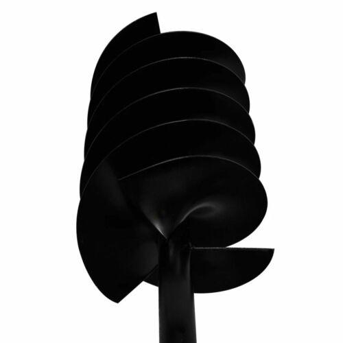 vidaXL Trapano terra con maniglia 150 mm doppia spirale Acciaio Nero