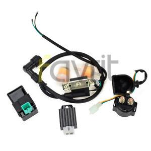 ATV-Ignition-Coil-Regulator-Rectifier-Relay-CDI-50-70-90-110-125cc-Taotao-Roketa
