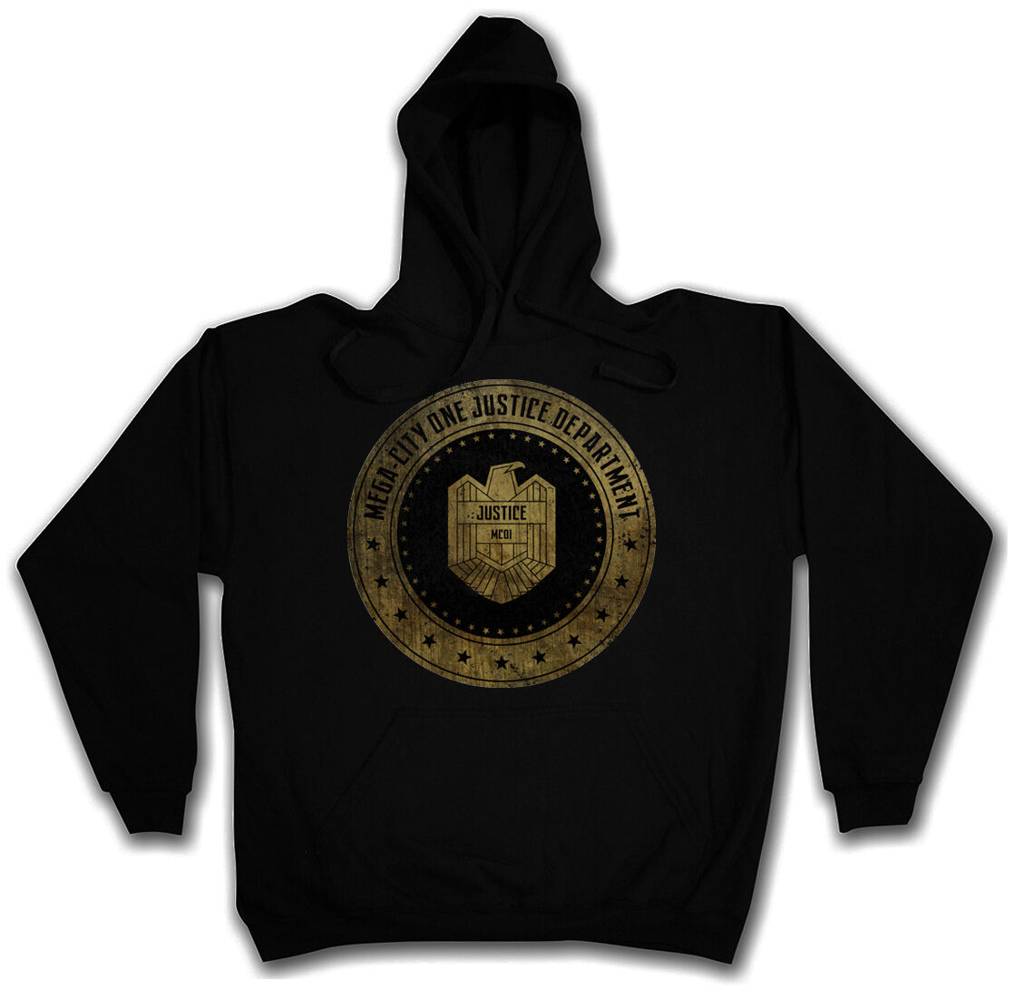 JUSTICE DEPARTMENT HOODIE Judge Mega City DROTd One Hooded Sweat Kapuzenpullover