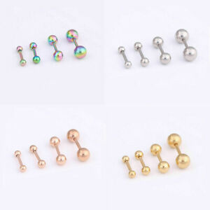 Stainless-Steel-Barbell-Ear-Tragus-Helix-Stud-Bar-Earring-Piercing-Cartilage-New