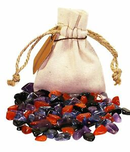 Protection-Power-Pouch-Healing-Crystals-Stones-Set-Tumbled-Natural-Gemstones