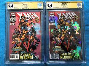 X-Men-80-Holofoil-amp-Regular-Edition-Marvel-CGC-SS-9-4-Signed-by-Joe-Kelly