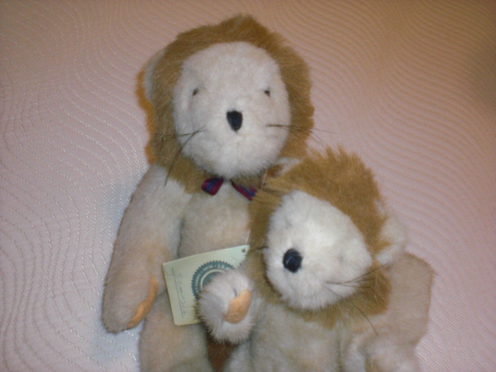 Lot of 2 RARE Vintage BOYDS Lions Leopold and Sampson One With Tags