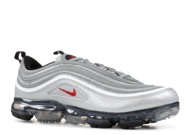72ca8e09f3de Nike Air Vapormax 97 OG Metallic Silver Bullet Men Running Shoes Aj7291-002  8.5