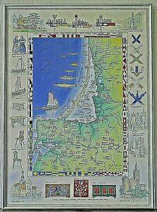 Kurische Nehrung Karte.Details Zu Kurische Nehrung Ostpreussen Karte Original Aquarell Von Litau Kunstler