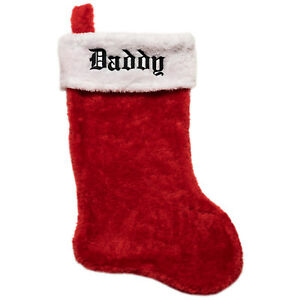 Details About Personalized Plush Christmas Stockings Classic Red White Monogrammed Your Name
